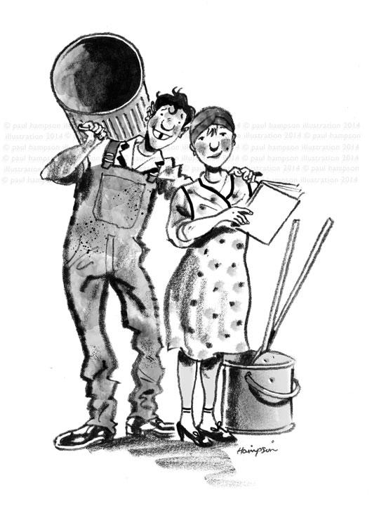illustration for Des O'Connor's Book | handbuilt cartoon illustrations