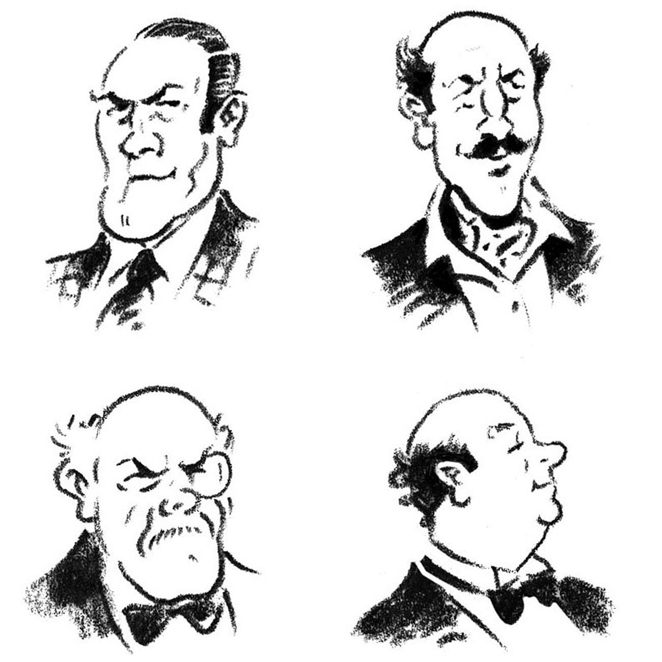 illustration for DR Harris characters | handbuilt cartoon illustrations