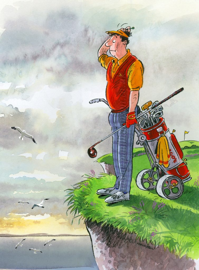 Lost Golf Ball by cartoonist Paul Hampson